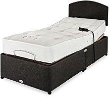 Healthbeds Natural Adjustable Bed, Beige, Single