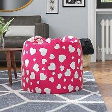Heart Bean Bag Chair Freeport Park