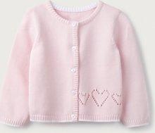 Heart Cardigan, Pink, 12-18mths