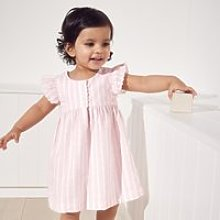 Heart Embroidered Dress, Pink, 12-18mths