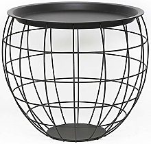 Heart of Home Black Metal Round Wire Basket