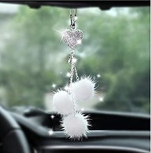 Heart Plush Ball Crystal Catcher Car Bling Rear