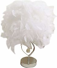 Heart Shape Feather Deco Desk Lamp Crystal Bedside