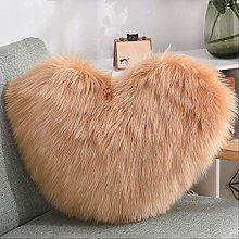 Heart Shaped Faux Wool Cushions Colorful Sofa Soft