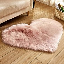 Heart Shaped Love Soft Faux Sheepskin Fur Plush