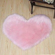 Heart-Shaped Shaggy Long Hair Fluffy Area Rug Soft