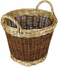 Hearth & Home Two Tone Log Basket 30cm - HH315