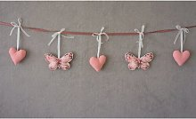 Hearts and Butterflies Wall Decoration Brambly