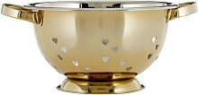 Hearts Design Stainless Steel Colander Symple