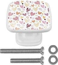 Hearts Pattern Kitchen Cabinet Knobs 1.18 Inch