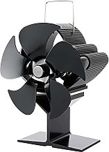 Heat Powered 5 Blade Stove Fan Flue Pipe,Silent