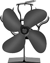 Heat Powered Stove Fan, 4 Blades Fire Fans for