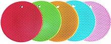 Heat Resistance Silicone Insulation Round Trivet