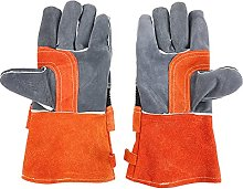 Heat Resistant Grill BBQ Gloves Leather Forge
