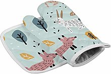 Heat Resistant insulated oven mitts potholders
