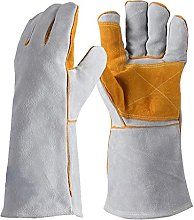 Heat Resistant Leather Gloves Stitching Fire