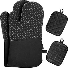 Heat Resistant Oven Mitt Gloves BBQ Cooking Grill
