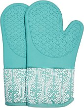 Heat Resistant Silicone Oven Glove With Quilted