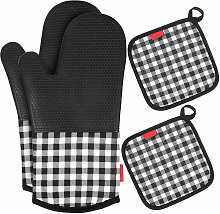 Heat Resistant Silicone Oven Gloves Non-Slip Oven