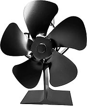Heating fan for Stove, Upgrade 5 Blades Stove Fan