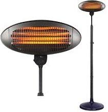 HEATSURE Outdoor Electric Patio Heater 2KW Black