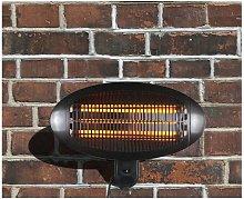 HEATSURE Patio Heater Wall Mounted 2000DI Black