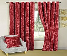 Heavy Crushed Velvet Curtains Pair Fully Lined