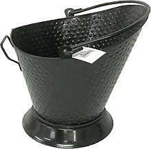 Heavy Duty Black Metal Fireplace Round Hammered