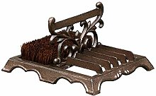 Heavy Duty Boot Brush - Cast Iron Brown Coir