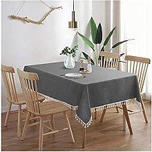 Heavy Duty Cotton Linen gray Table Cloth,