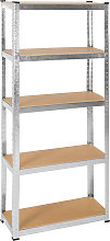 Heavy duty garage shelving made of sheet steel -