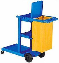 Heavy Duty Housekeeping Cart with Lid & Large