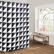 Heavy Duty Shower Curtain, Black & White
