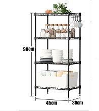 Heavy Duty Storage 4 Level 45X30x90cm Black