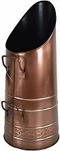 Heavy Duty Tall Metal Fireplace Round Coal Scuttle