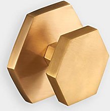Heavy Premium Large Solid Brass Brushed Gold