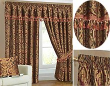 Heavy Weight Jacquard Chenille Curtain Pair Fully