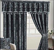 Heavy Weight Jacquard Chenille Luxury Curtain Pair