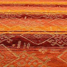 Heavyweight Kilim Aztec Pattern Orange Red