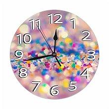 Hebb Round Wall Clock Shelf Clock Vintage Abstract