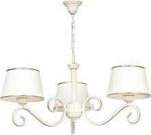 Heckson 3-Light Shaded Chandelier Lily Manor