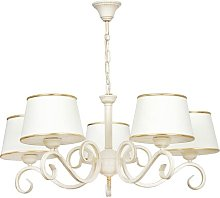 Heckson 5-Light Shaded Chandelier Lily Manor