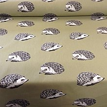Hedgehog Flint Moss Green Cotton Designer Material