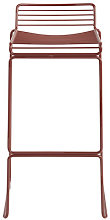 Hee Bar stool - H 75 cm - Metal by Hay Orange
