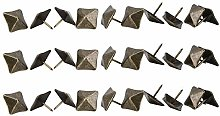 HEEPDD 50Pcs Square Head Antique Pins, Upholstery