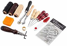 HEEPDD Leather Craft Tools, 14pcs Leather Working