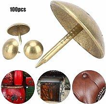 HEEPDD Upholstery Nails, 100Pcs Cyan Bronze