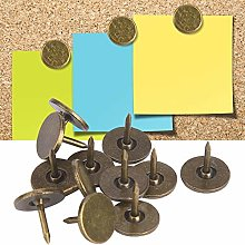 HEEPDD Upholstery Nails, 100Pcs Flat Head Bronze