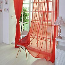 Heetey 1 PCS Pure Color Tulle Door Window Curtain