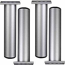 Height Adjustable Furniture Legs Round Aluminum